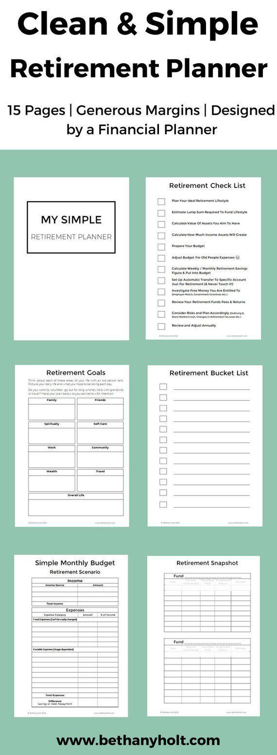 retirement planner planner retirement financial planner budget