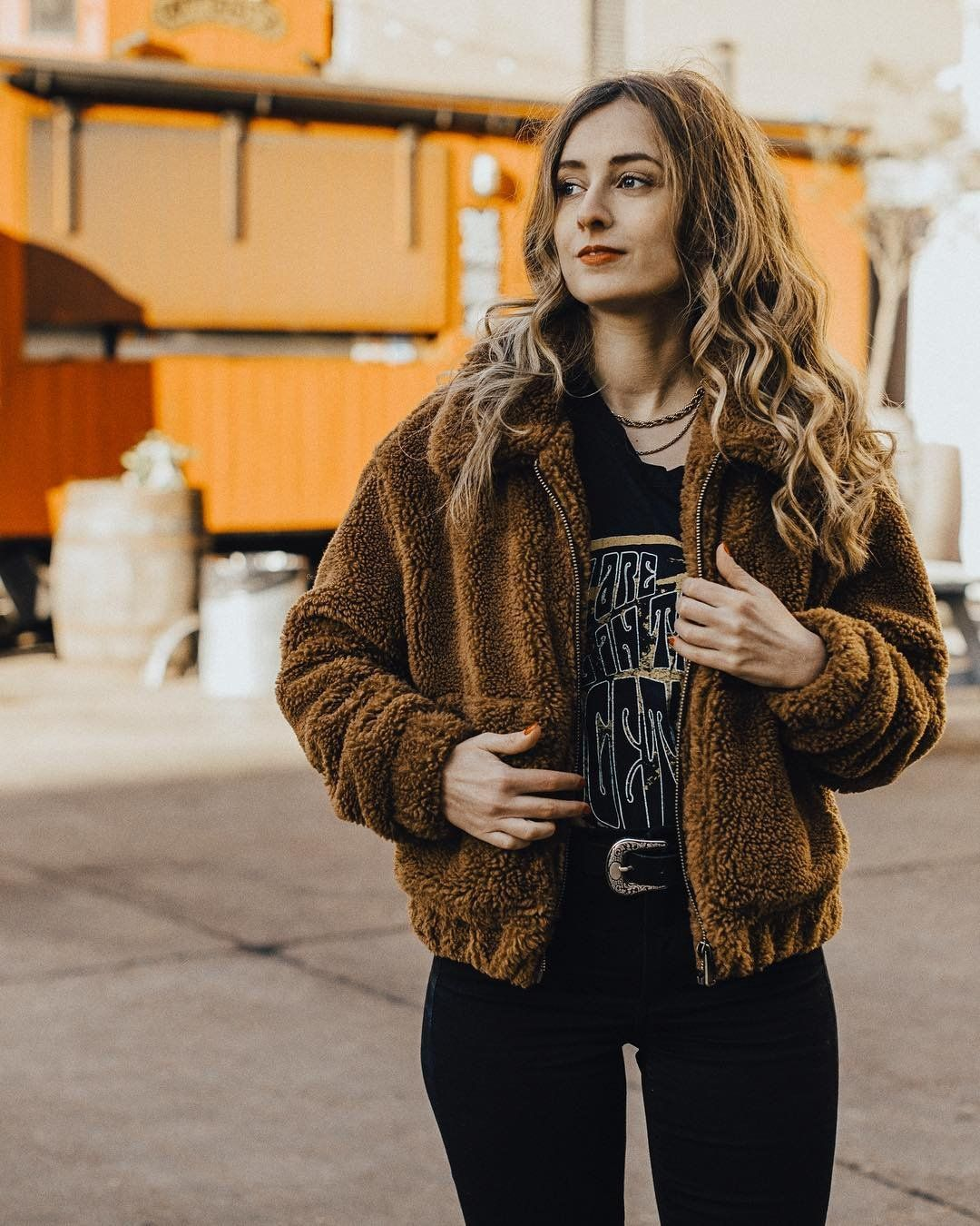 Uo Light Brown Teddy Cropped Jacket My Style Jackets Coats For