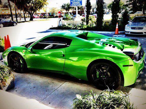 Lime Green Ferrari 458 Spider :)