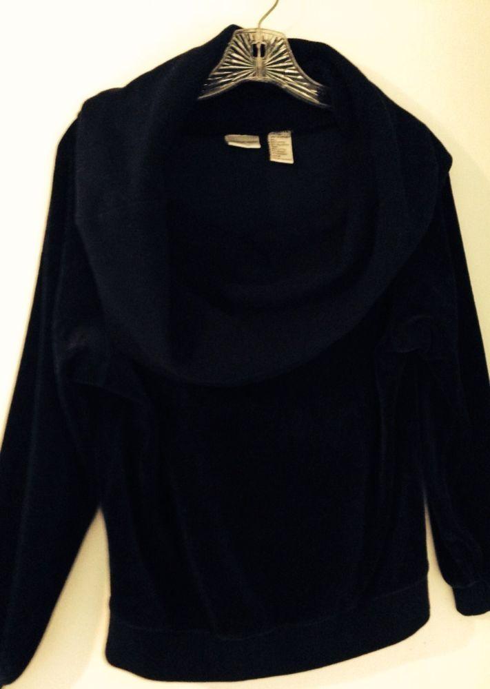Ladies Med Long Sleeve Black Cowl Neck Soft Comfy Sweatshirt $6 @eBay  ENDING SOON