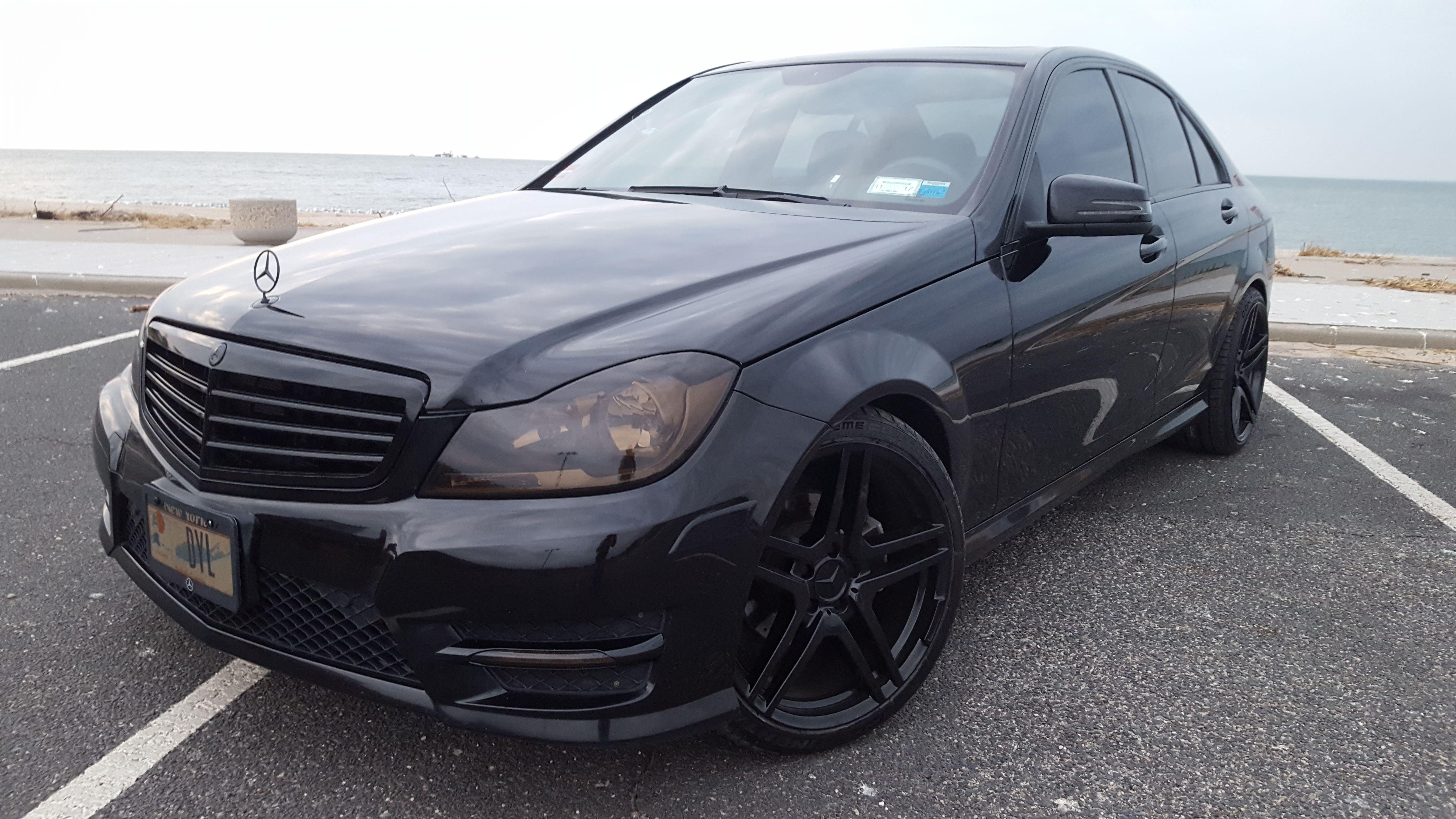 2012 C300 W204 Blacked Out Black On Black Mercedes C300