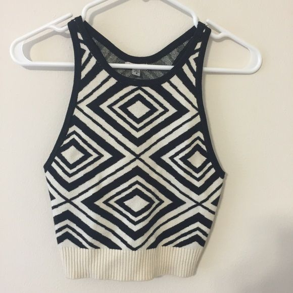 Black and White Knit Top small Knit tank top from Urban Outfitters. Only worn once! Let me know if you have any questions :) Urban Outfitters Tops