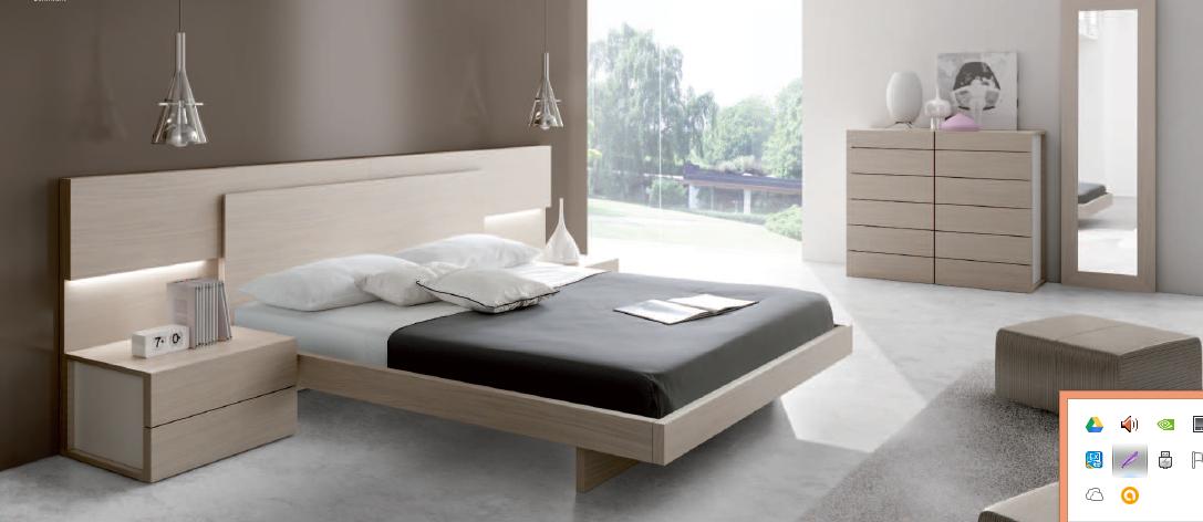Mobiliario de dormitorio conjunto cama en madera decap y - Muebles casal valencia ...