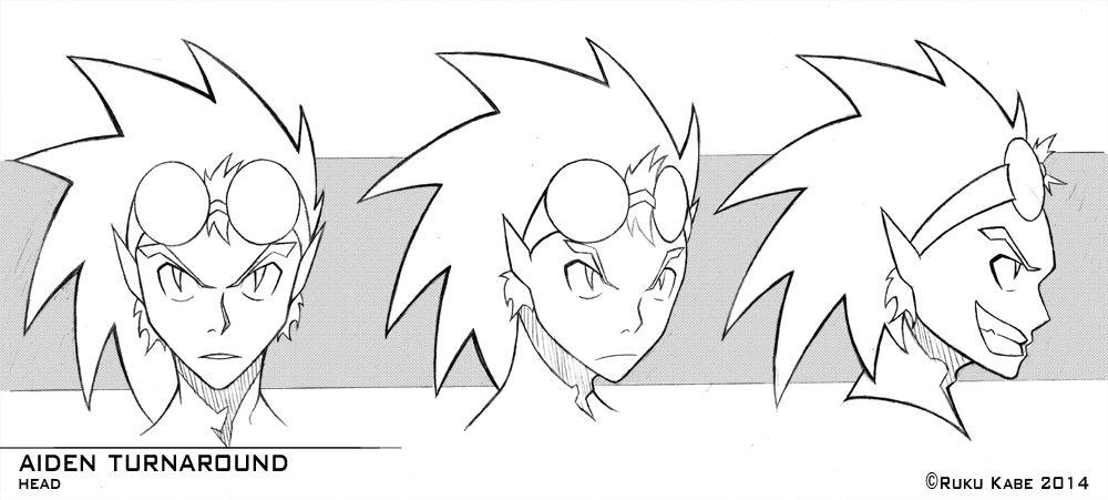 Anime Head Turnaround Google Search Anime Head Cartoon Styles Art