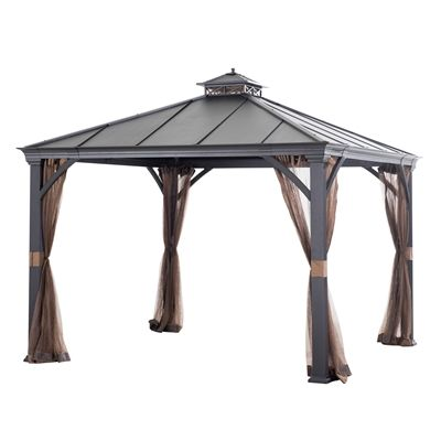Allen Roth Gazebo L Gz401pco D 10 Ft X 10 Ft Hardtop With