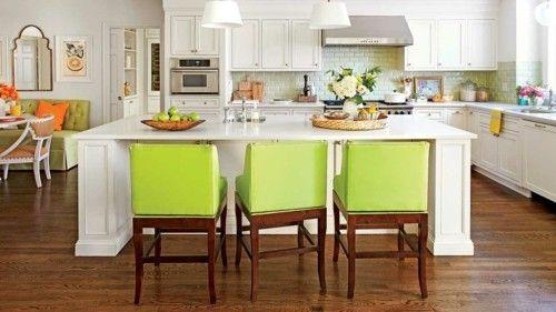 Grüne Küchenstühle ~ Küche mit kochinsel grüne küchenstühle küche möbel küchen