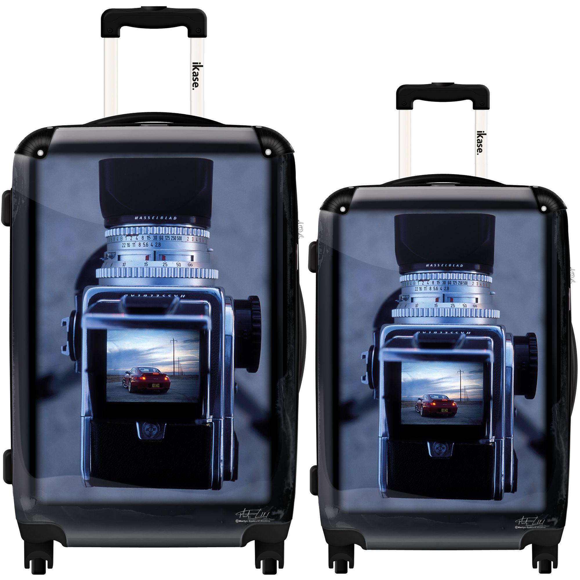Ikase Hardside Spinner Luggage Vintage Camera