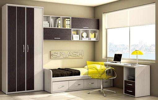 Dormitorio para joven casa pinterest dormitorios disenos de unas y dormitorios juveniles - Habitacion juvenil diseno ...