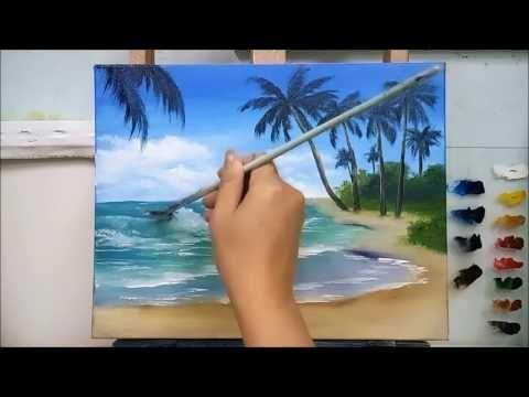 Yagliboya Deniz Nasil Yapilir Youtube Deniz Resmi Nasil Cizilir Youtube Sea Painting Painting Lessons Beach Painting