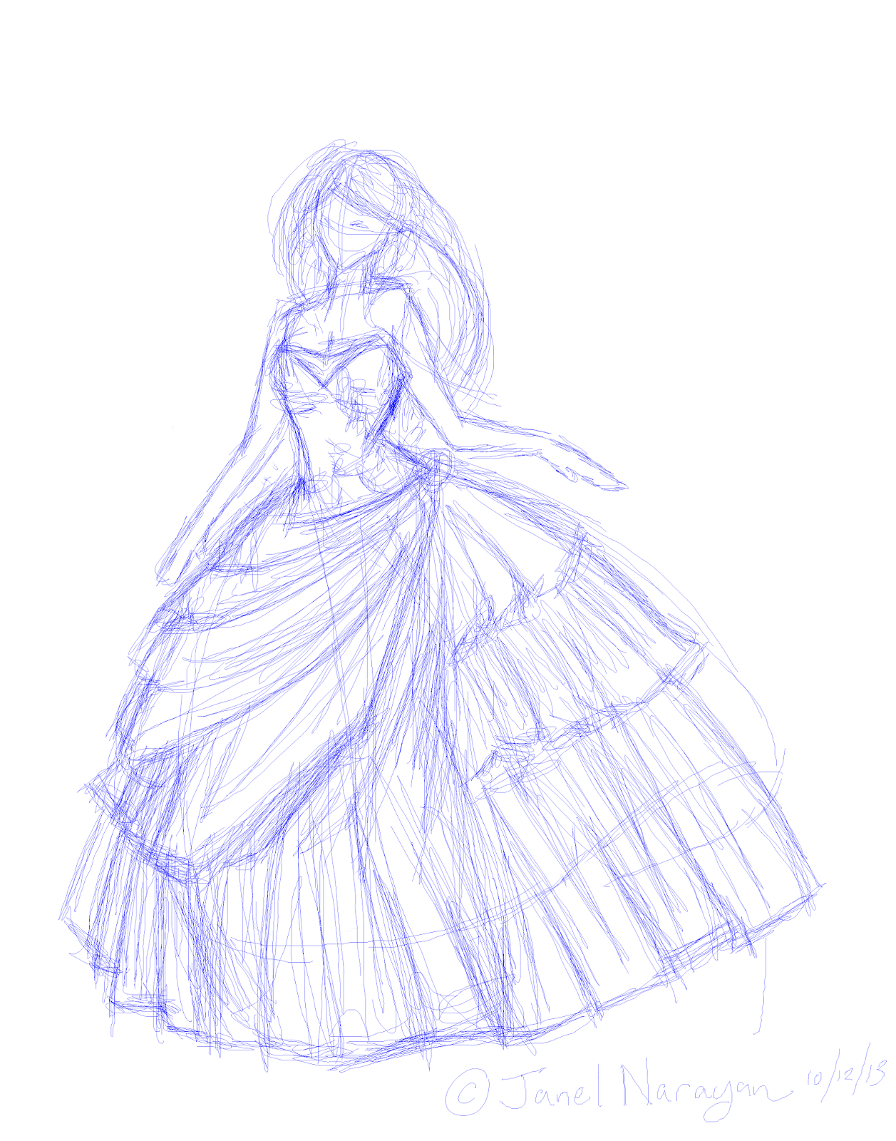 Quinceanera Dresses Drawings This is a lovel...