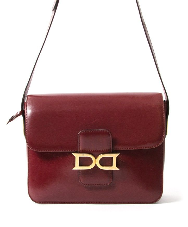 Delvaux Burgundy Shoulder Bag authentic secondhand bags safe online  shopping webshop Belgium Antwerp LabelLOV fashion style bags high end labels  luxury ... 94d8213d5d62a
