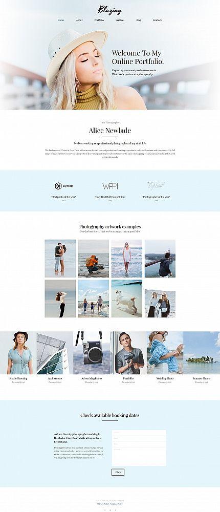 Art Photography Photo Gallery Template Portfolio - Online art gallery website template