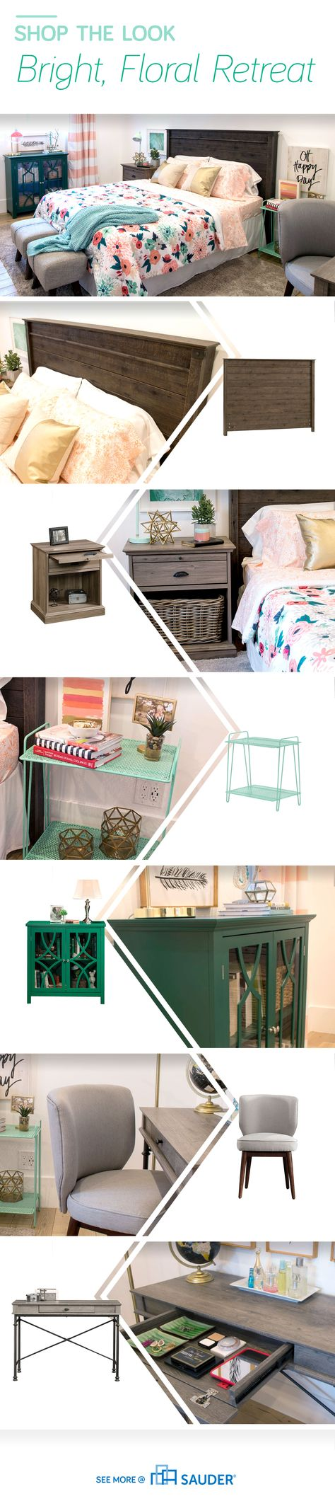 Spring is here! Hooray! Let's create a bedroom to match. Cassity Kmetzsch from Remodelaholic brought in bright colors and floral accents to her bedroom refresh. Her updated space has us feeling upbeat and cheery! We can't wait to see the flowers bloom.