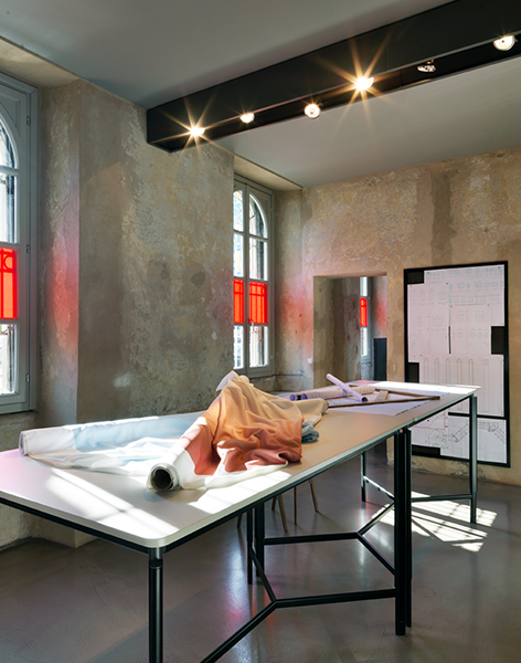 Tecno's exhibition during the Milan Design Week at its showroom in