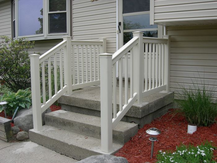 Best Front Porch Railing With Concrete Stairs Concrete Stairs Front Porch Front Porch Railings 400 x 300