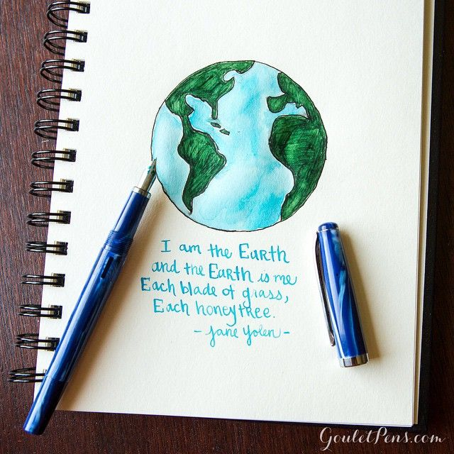 Happy #EarthDay ! Grab a fountain pen to celebrate. Not only do they make writing more fun, but they are also better for the environment. According to the EPA, Americans throw away an estimated 1.6 billion disposable pens each year… that's a lot of waste!