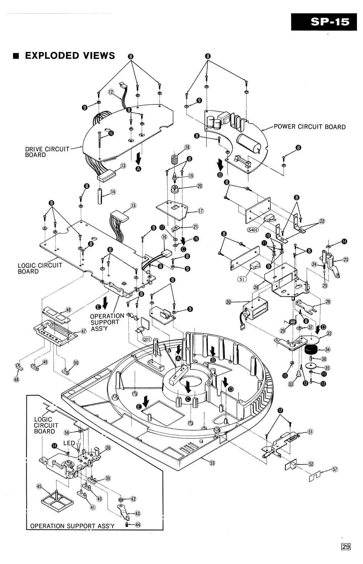 Technics 1210 Exploded Diagram