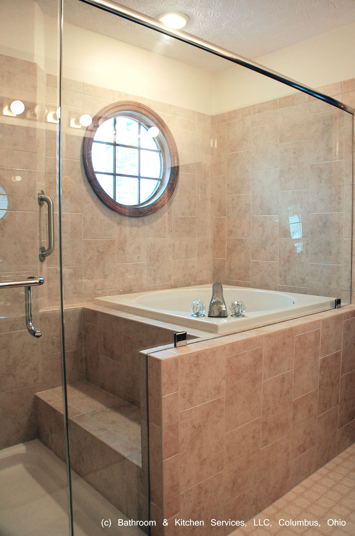 Japanese style shower and soaking tub bathrooms for for Small japanese bathroom design