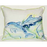Betsy's Dolphins Small Indoor/Outdoor Pillows-2