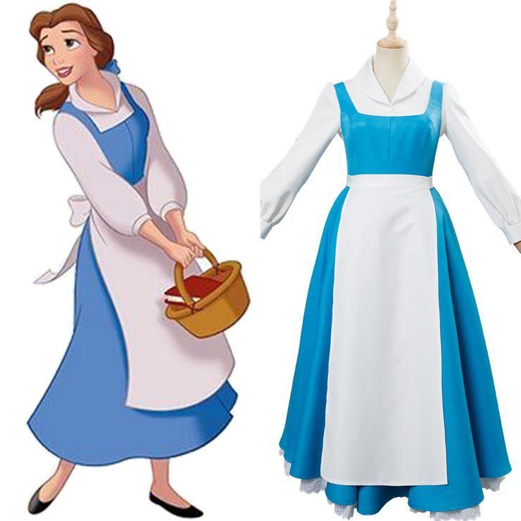 Die Schone Und Das Biest Belle Kleid Dienstmadchen Kotum Cosplay Belle Cosplay Beauty And The Beast Costume Belle Beauty And The Beast