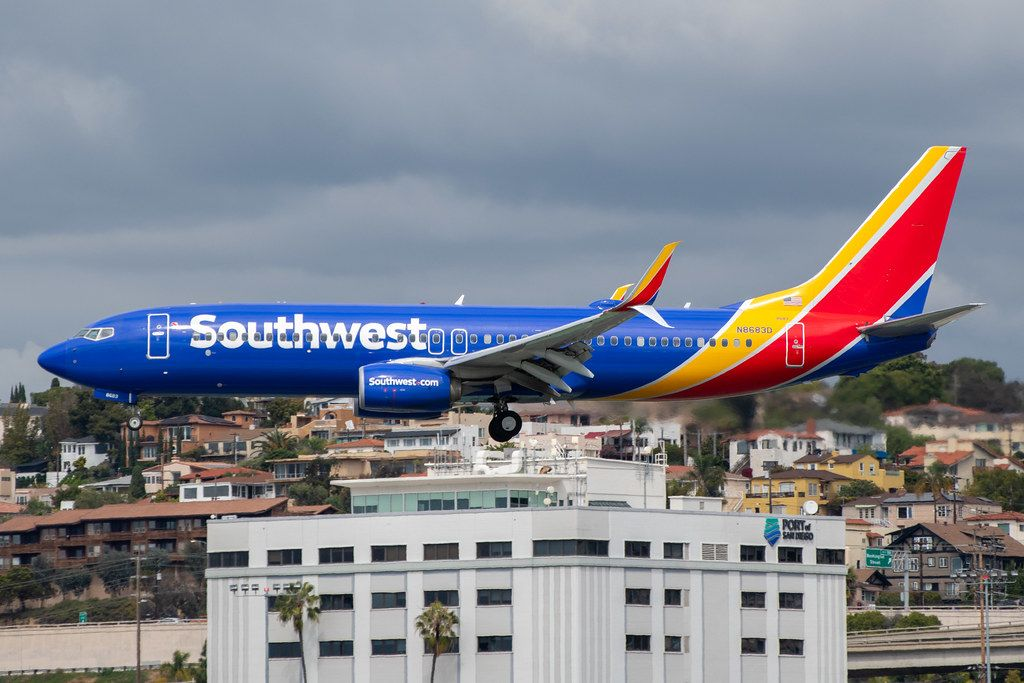 Southwest Airlines 7378H4 arriving at SAN_20200314 in