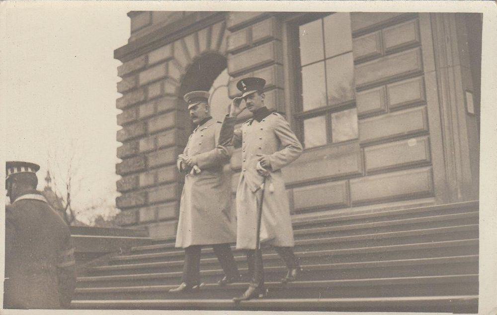 Prince Ernst August of Hannover & Prince Max of Baden in Braunschweig RARE photo