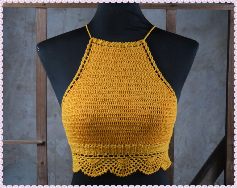 crochet halter top - Google Search | топ-кроп | Pinterest | Tejido ...