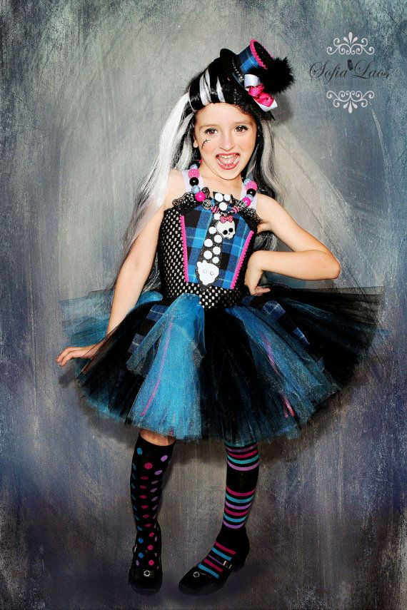 Frankie Stein inspired costume from Monster High blue and black on Etsy, $69.00