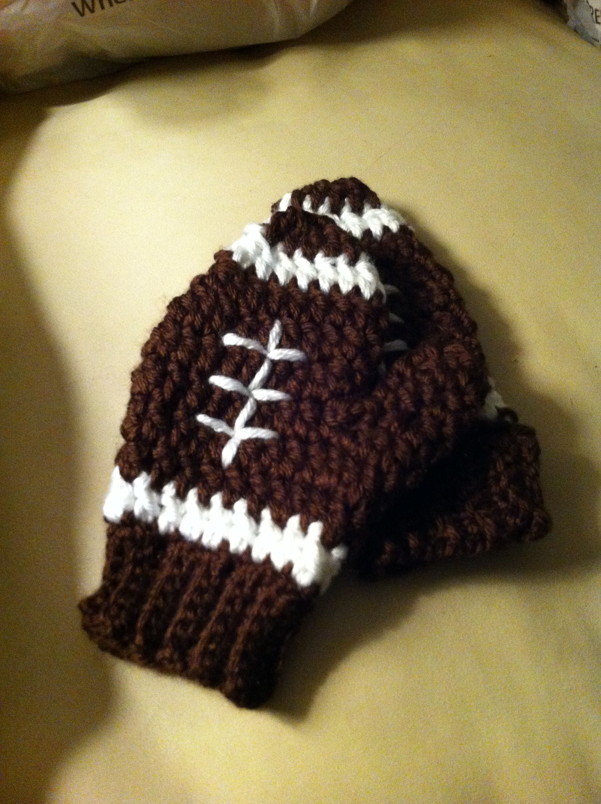 Mittens crochet football for my youngest nephew for christmas mittens crochet football for my youngest nephew for christmas bankloansurffo Choice Image