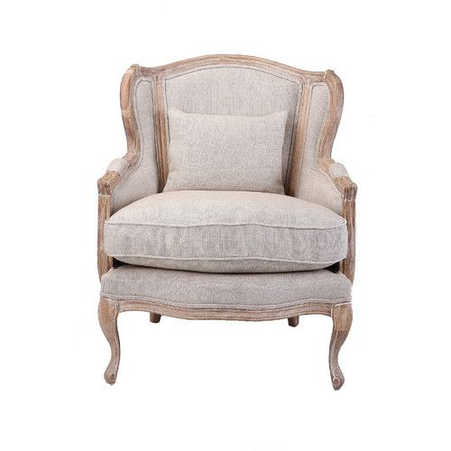 Homeflex French Country High Back Wing Armchair