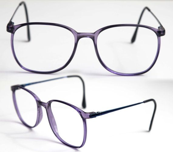 270fc049e9 Vintage Marcolin CAMPUS Eye Glasses Men or Women Unisex Purple Translucent  with Dark Navy Metal Arms Frame ITALY Rx