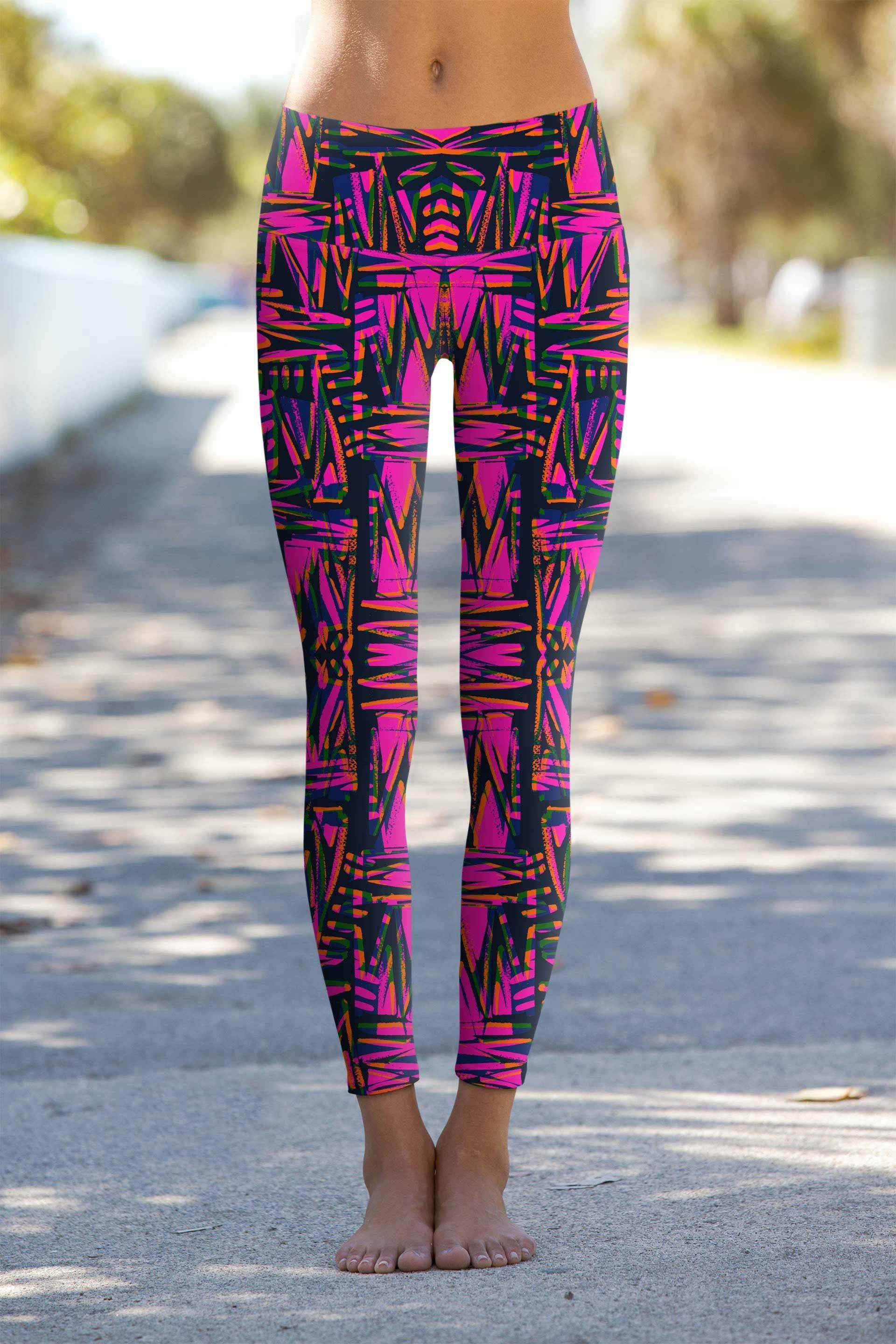 a7b8bc7ad1122 Ego Lucy Printed Performance Yoga Leggings - Women | FashionTerras ...
