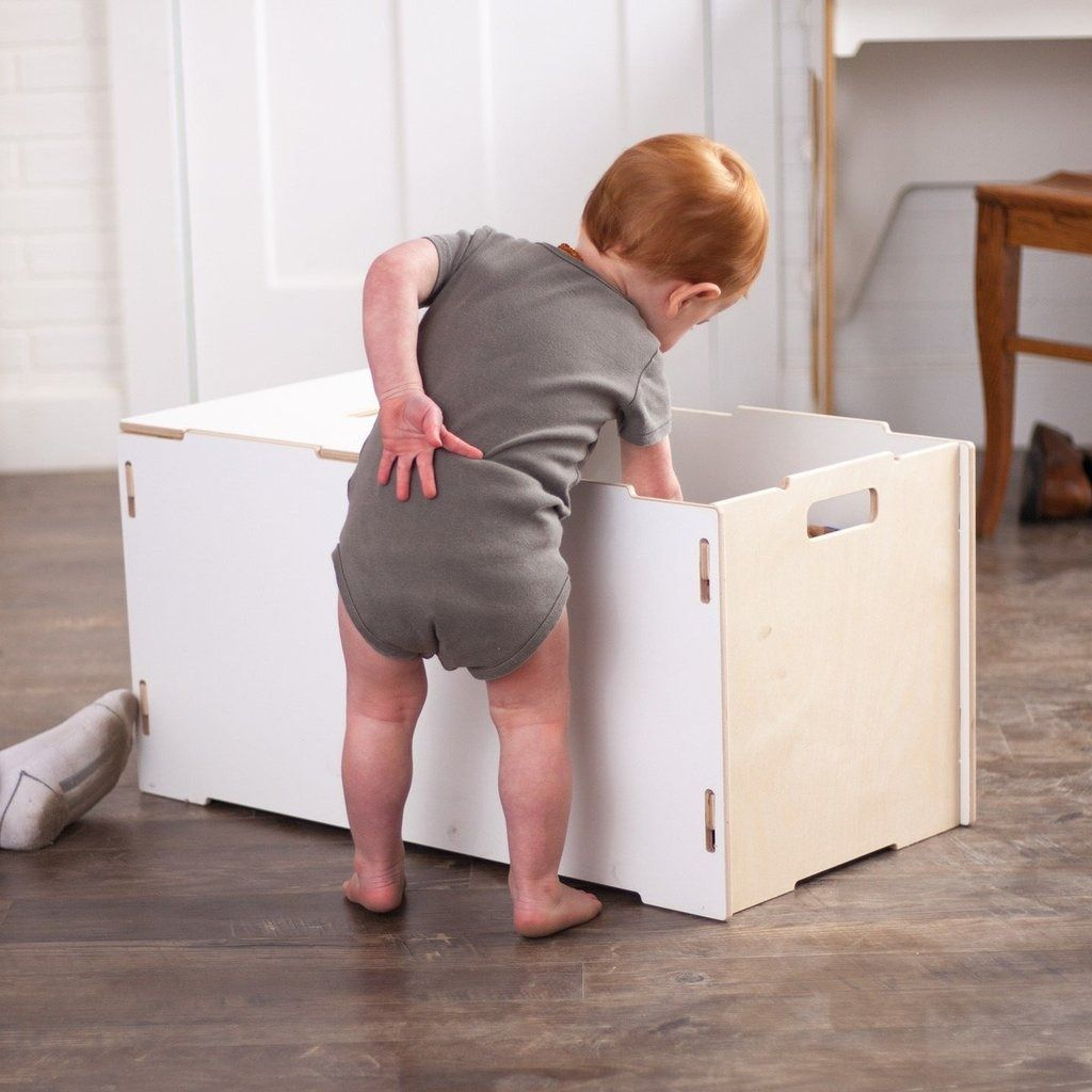 This Large Wooden Toy Box Works Just As
