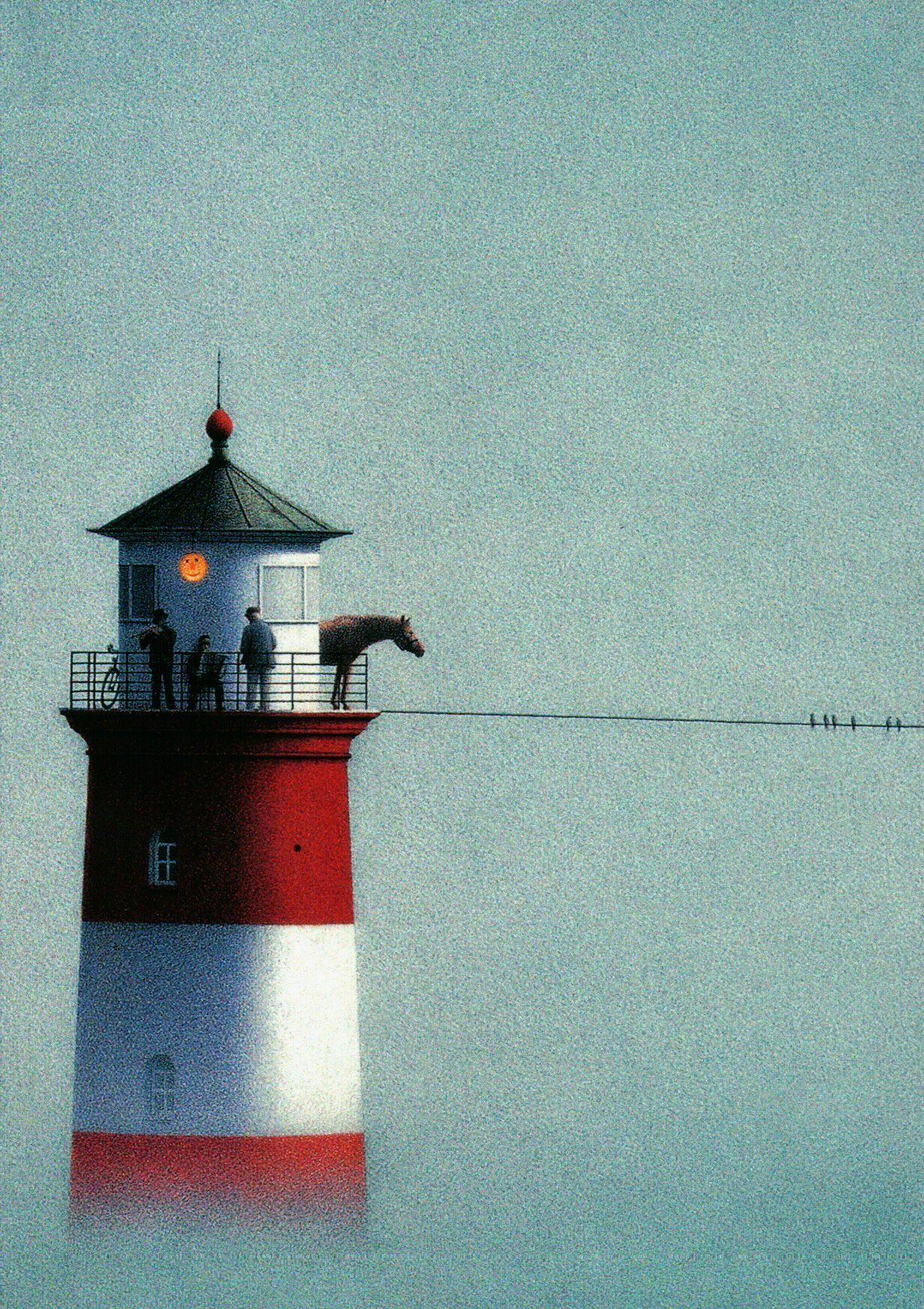 Inkognito Quint Buchholz Leuchtturm Im Nebel 2881 Postcard Iskusstvo Syurrealizma Iskusstvo Kraska