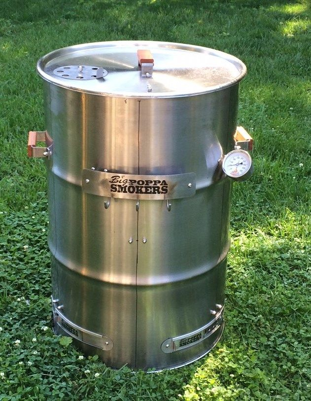 55 Gallon Stainless Steel Drum Smoker Using One Of Out New 1 2mm Stainless Steel Barrels Stainless Steel Drum Steel Barrel Drum Smoker