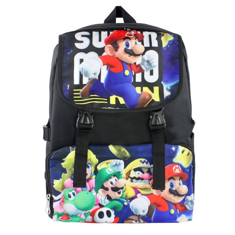 HOOMOLO Super Mario Canvas Backpack Computer Backpack Casual Backpack Unisex School Backpack Travel Bag