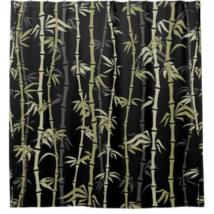 Japanese Style Bamboo Design Shower Curtain