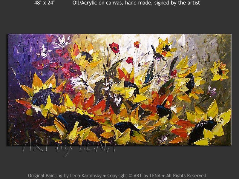 """Sunflowers painting """"In All Our Dreams"""""""