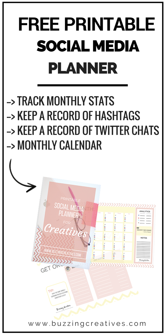 social media planner printable free social media marketing social