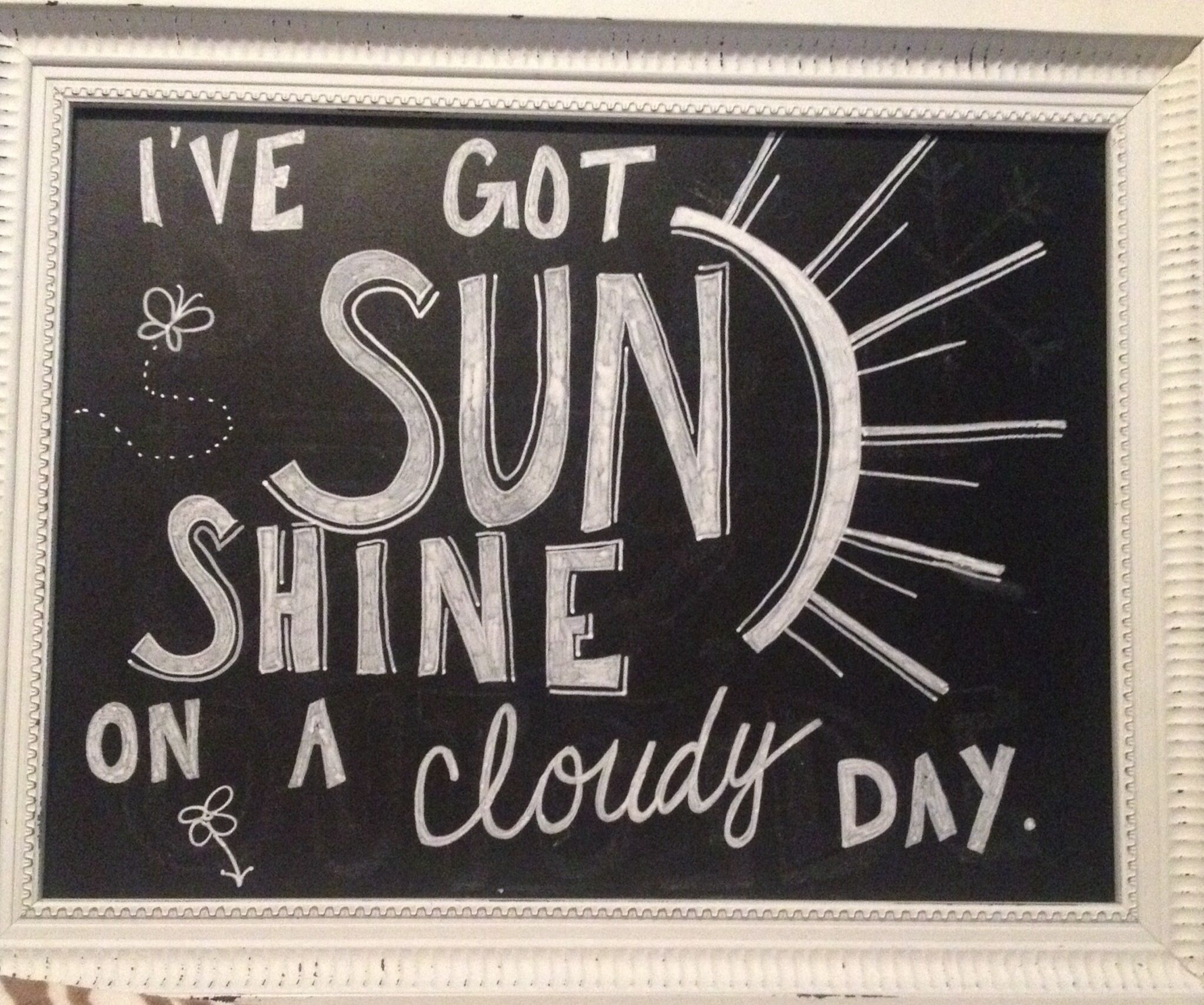 My New Chalkboard Saying For Spring And Summer Summer