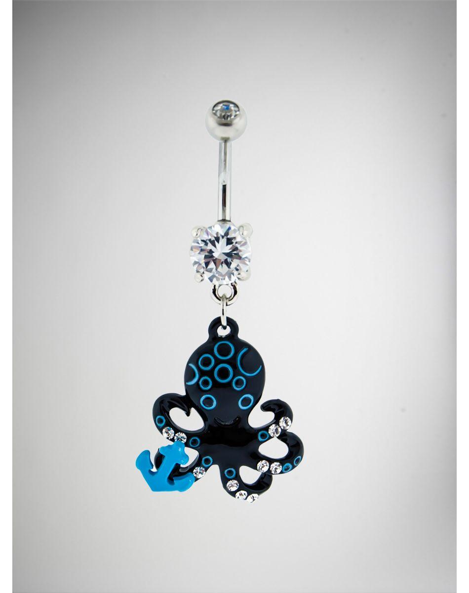 Navel piercing ideas  Octopus Anchor Navel Ring  Belly Piercing  Pinterest  Gauges