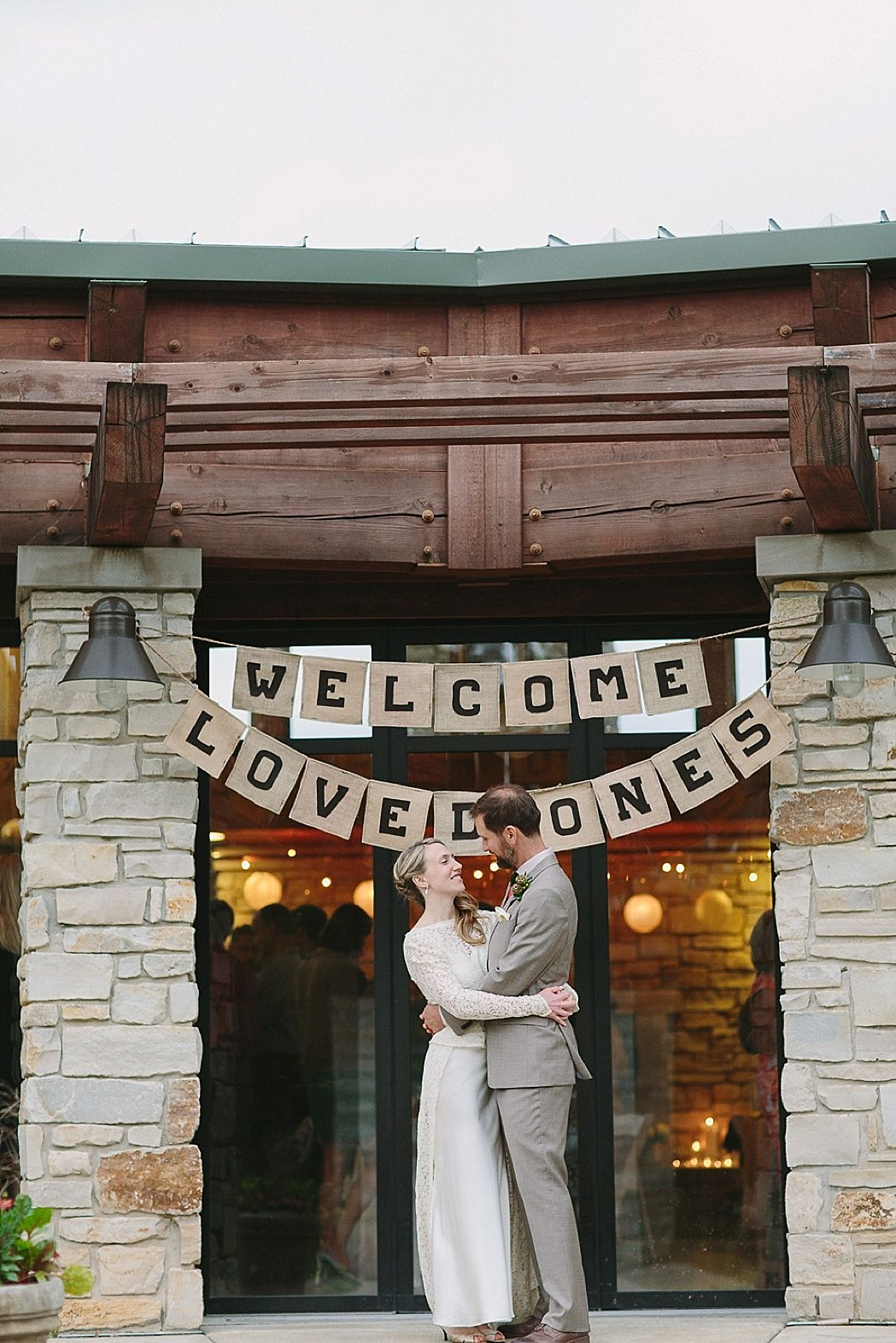 wedding welcome sign  -  Fall Forest Wedding Featured On Midwest Bride Photos By Justine Bursoni Photography