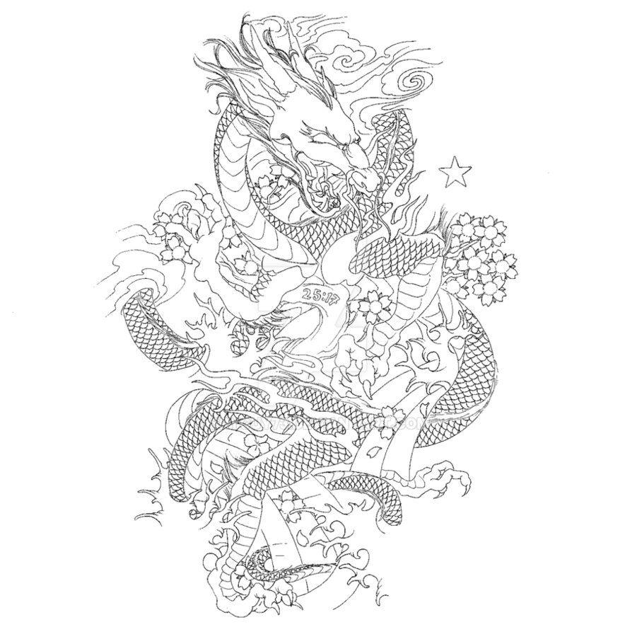 Japanese Dragon Sleeve by BryGuy73 on @DeviantArt