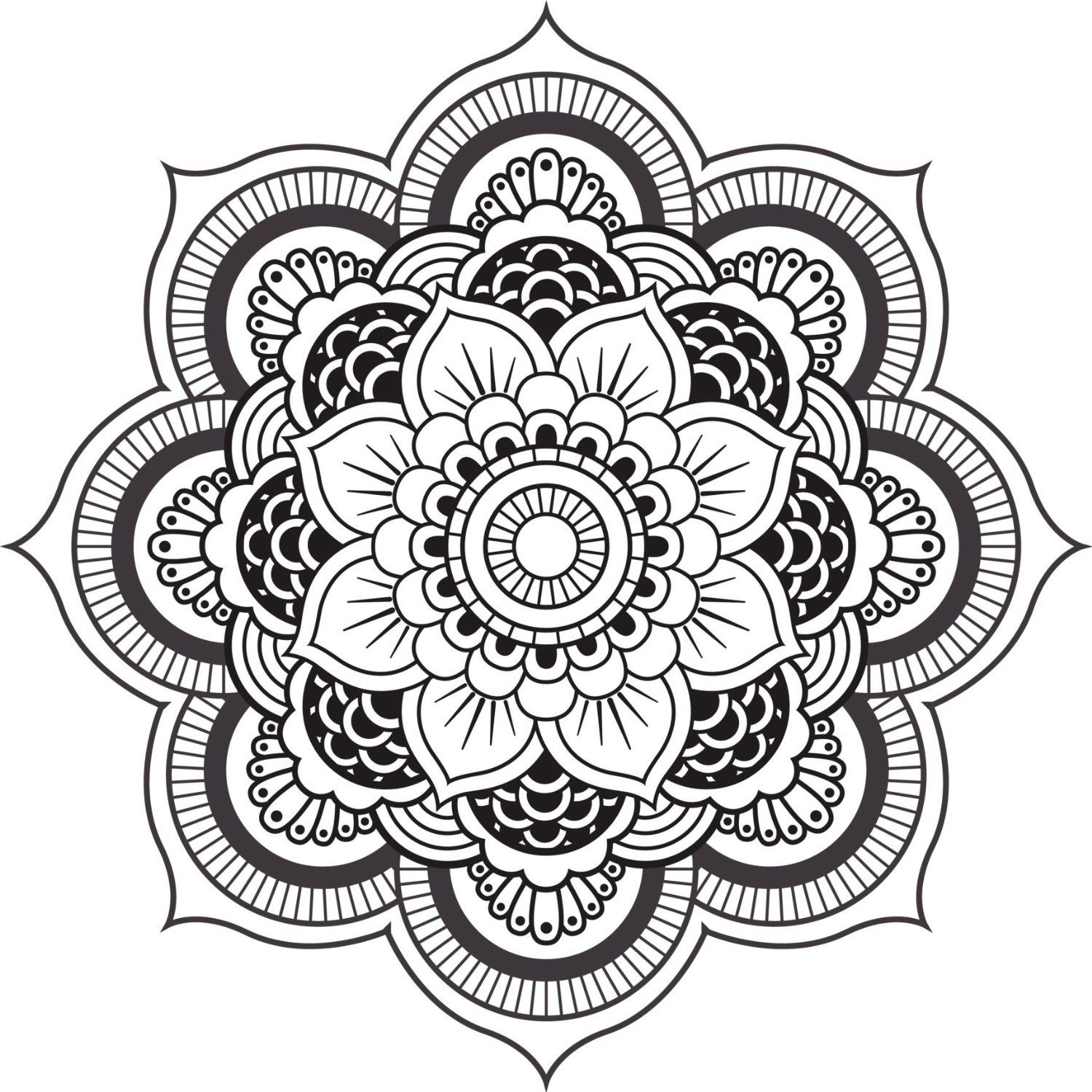 Mandala Design Black White Mandala Painting Pinterest