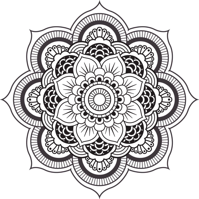 Black And White Mandala Tattoo