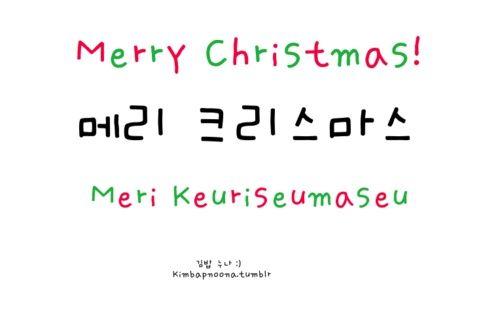 Merry Christmas In Korean.Merry Christmas Meri Keuriseumaseu Language Study Learn