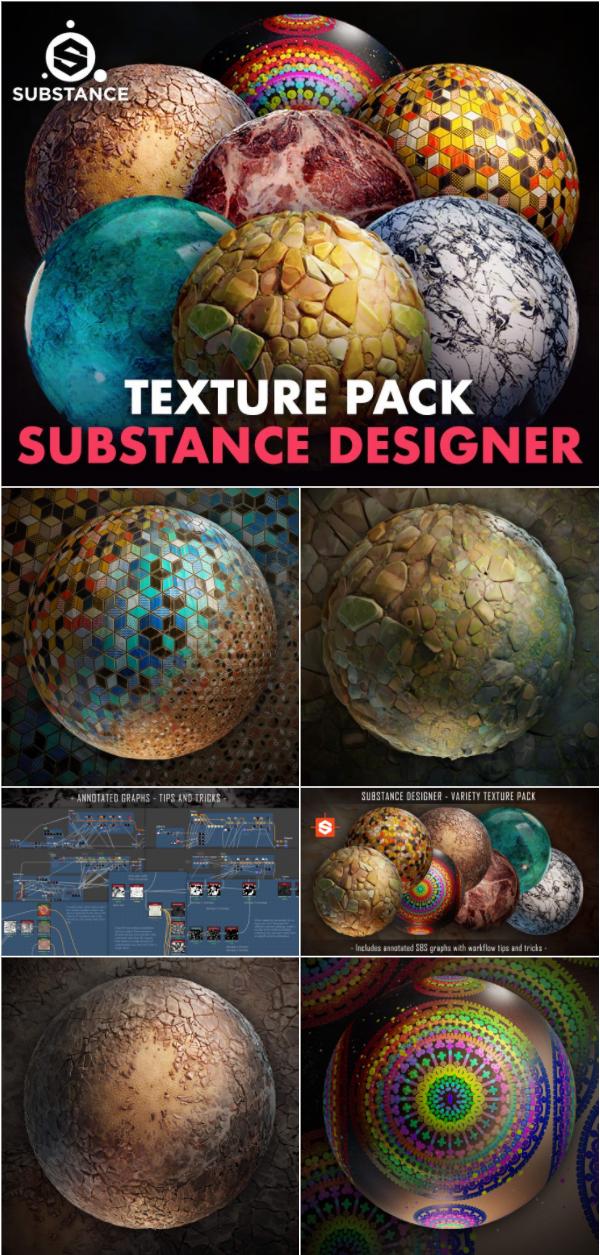 Substance Designer Variety Texture Pack With Tips Tricks Substance Designer Tutorial Texture Packs Digital Art Tutorial