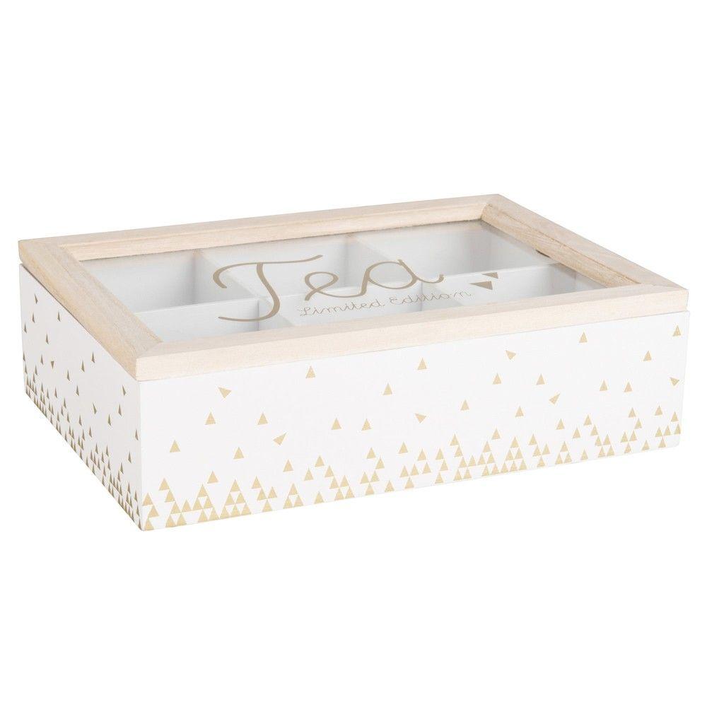 Caja De T Blanca Con Motivos Yogaroom Pinterest Caja De  # Muebles Mundo Box