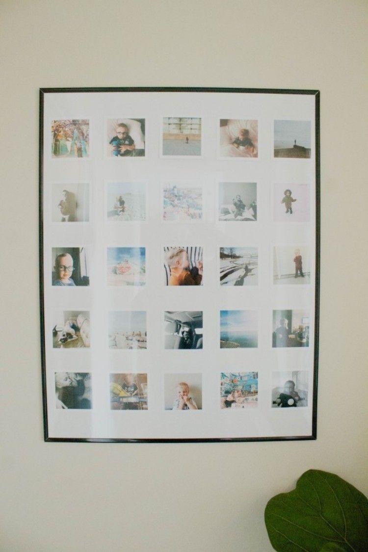 stilvolle fotocollage im großen simplen bilderrahmen | hochzeit