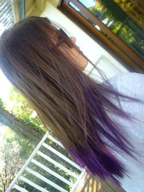 Want To So Do This This Summer With My Best Friend Bre Colored Hair Tips Dip Dye Hair Purple Hair Tips